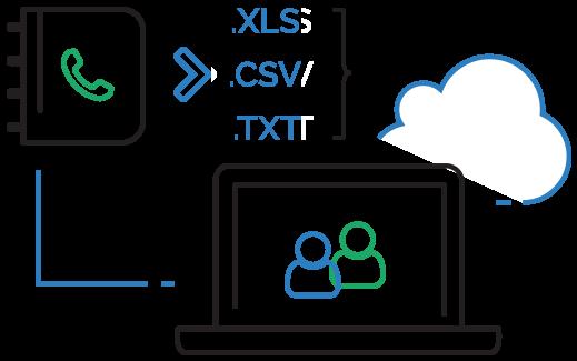 Importa la tua rubrica sms in csv o Excel