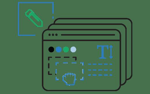 Tanti template ed un editor intuitivo