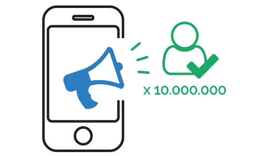 SMS marketing: oltre 10 milioni di contatti verificati